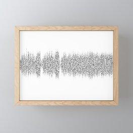 Cornflake Girl soundwave with lyrics - for light backgrounds Framed Mini Art Print