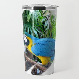 Blue Yellow Macaw. Parrot Travel Mug