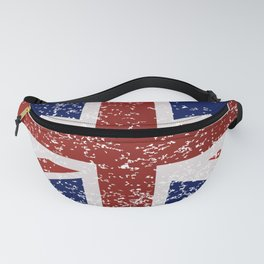 Grunge British Flag Fanny Pack