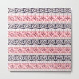 Ethnic boho style pattern Metal Print