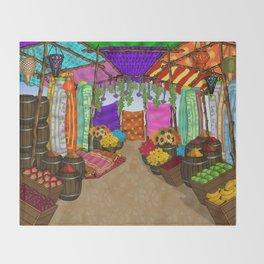 At The Bazaar Throw Blanket