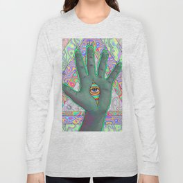 Psychedelic Hand Long Sleeve T-shirt