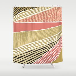 Modern irregular Stripes 05 Shower Curtain