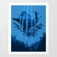 The Underwater Fantasy Art Print