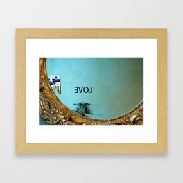 Backwards Love Framed Art Print