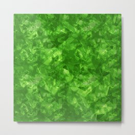 Dark pastel variegated green stars in the projection. Metal Print