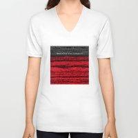 velvet underground V-neck T-shirts featuring Venus in Furs - The Velvet Underground by Blank & Vøid