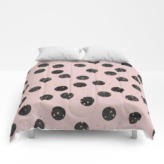 Black Dots Comforters