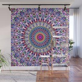 Fantasy Flower Garden Mandala Wall Mural