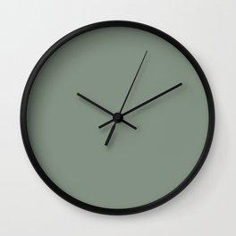 Green Pantone #839182 Wall Clock