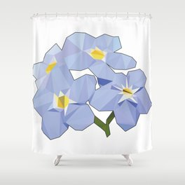 Forget Me Nots Low Poly Shower Curtain