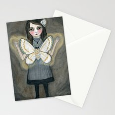 The Moth Girl, Victorian Portrait Stationery Cards