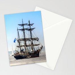 Majestic sailing view, Boston MA Stationery Cards