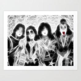 Magical KISS rock group Art Print