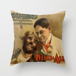 Vintage poster - Hurly Burly Extravaganza and Refined Vaudeville Throw Pillow