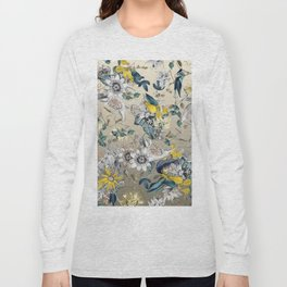 Exotic Fragrant Floral Garden in Gold Long Sleeve T-shirt