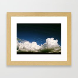 Photography clouds sky Punat Croatia Framed Art Print