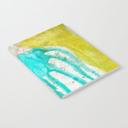 Artistic lime green teal hand painted watercolor Notebook