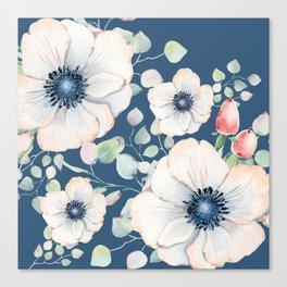 Summer Flowers Blue #society6 #buyart Canvas Print