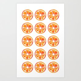 Orage slice pattern Art Print