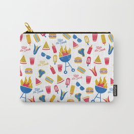Summer BBQ Pattern - Blue Red Yellow Carry-All Pouch