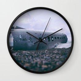 abandoned airplane Wall Clock