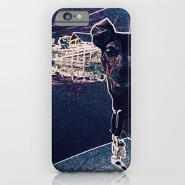 Min Pin on a boat iPhone Case