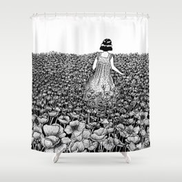 The Field of Poppies Shower Curtain
