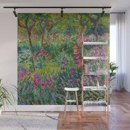 "Claude Monet ""The iris garden at Giverny"", 1900 Wall Mural"