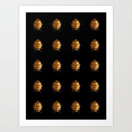 Budhha Golden Head by Lika Ramati Art Print