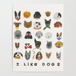 I Like Dogs Poster