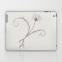 Purple Sketched Flower Laptop & iPad Skin