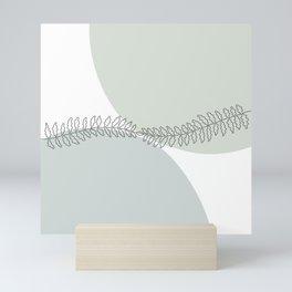 Fern, continuous line Mini Art Print