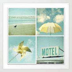 Coastal Collage Art Print