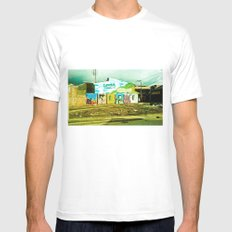 Graffiti in my town. Mens Fitted Tee White MEDIUM