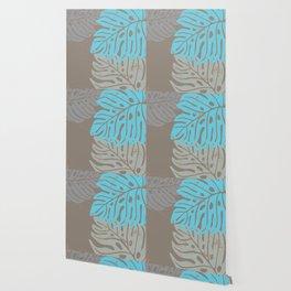 Hawaiian leaves pattern N0 2, Art Print collection, illustration original pop art graphic print Wallpaper