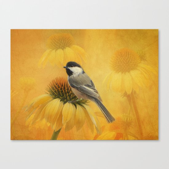 Little Chickadee Canvas Print