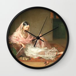 Muslim Lady Reclining - Renaldi Wall Clock