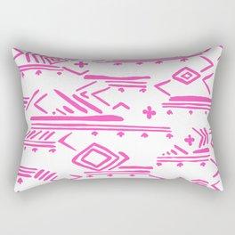 Pink watercolor abstract geometrical aztec tribal pattern Rectangular Pillow