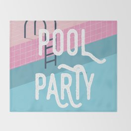 Pool party - summer vibes Throw Blanket