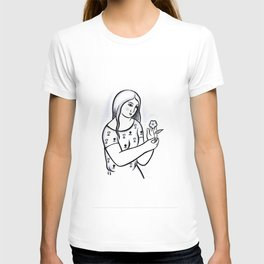 Girl with flower (from Mikuláš Galanda) T-shirt
