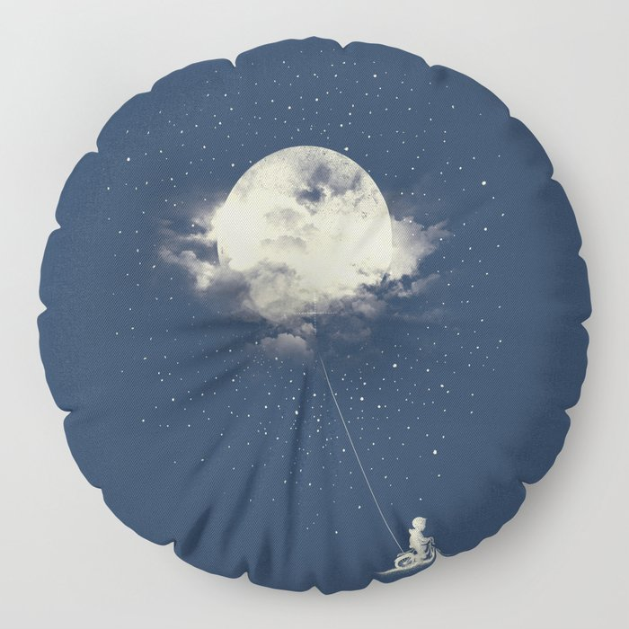 THE BOY WHO STOLE THE MOON Floor Pillow by torteelas | Society6