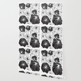 Flowers in black and white Wallpaper