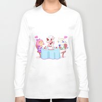 animal crossing Long Sleeve T-shirts featuring Animal Crossing :: Cake time by Thais Magnta Canha