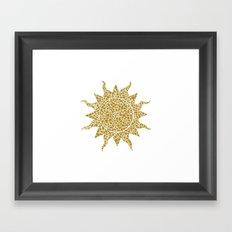 Mosaic Sun Framed Art Print