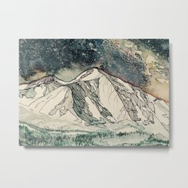 Mount Sopris and the Galaxy Metal Print