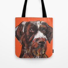 Hunting dog, printed from an original painting by Jiri Bures Tote Bag