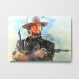 Portrait of Clint Eastwood Metal Print