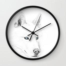 Saber :: A Siberian Husky Wall Clock
