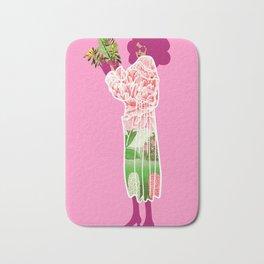 Floral Coat Pink Bath Mat